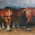Heavy Horses at the Chertsey Show