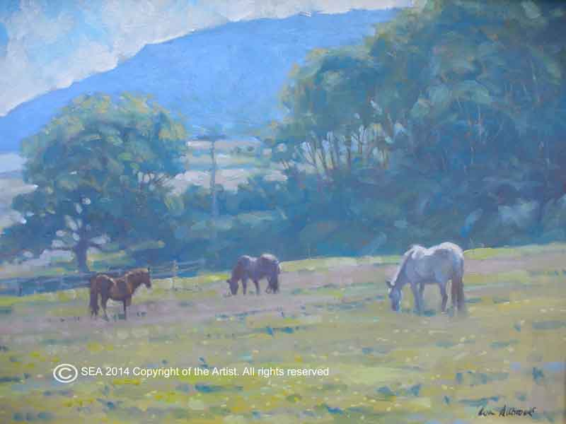 """Porlock June"" By Colin Allbrook HSEA RI RSMA Medium: Oils Price £825 size 12""x16"""
