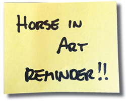 Horse in Art reminder