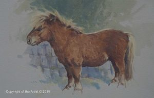horse in art exhibition