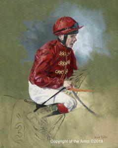 painting art equestrian exhibition horse in art jockey