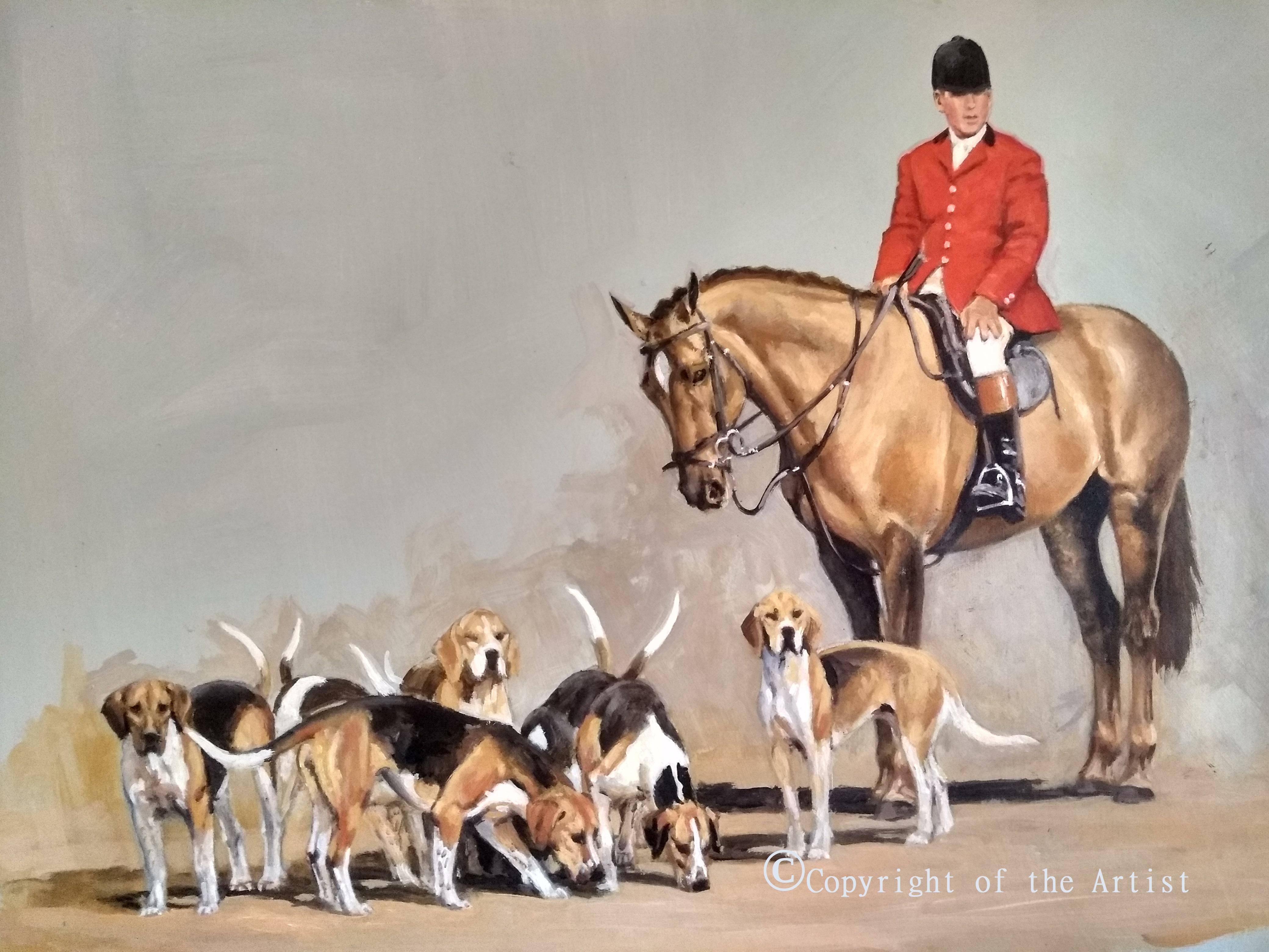huntsman oils painting Jennifer Bell