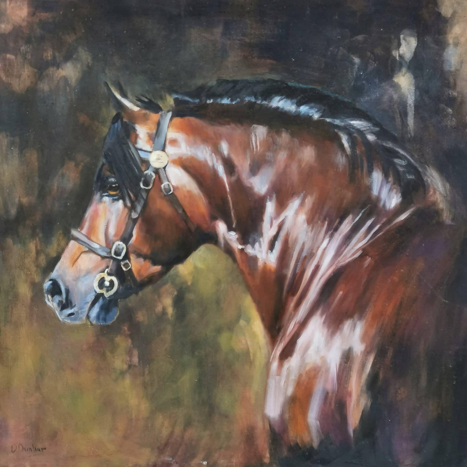 Welsh Cob painting Dunbar
