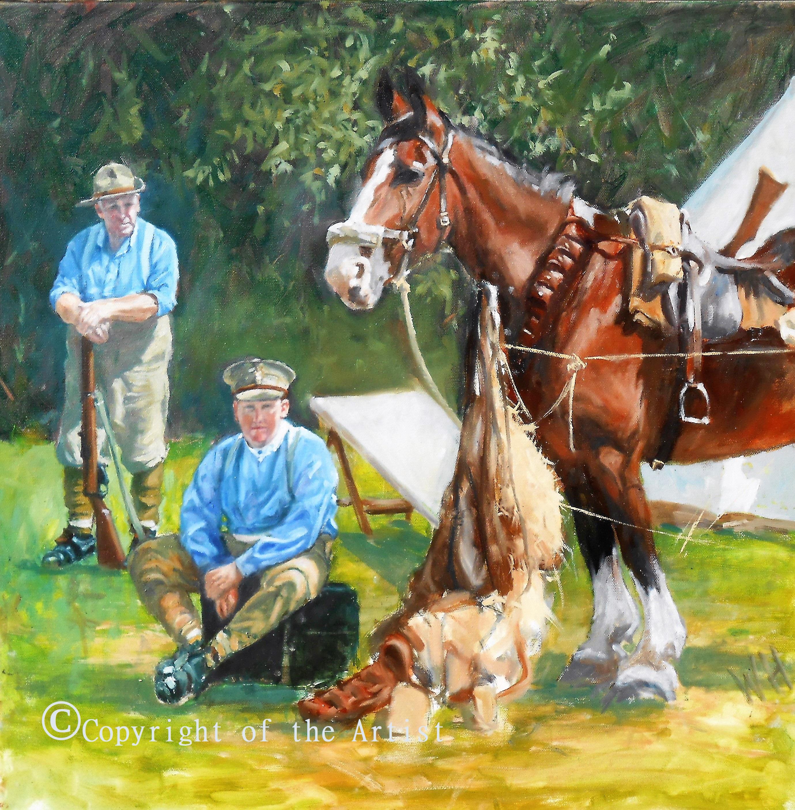 WW1 painting Wil Harvey