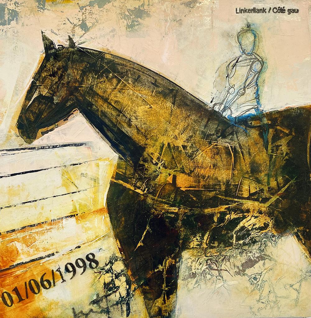 contemporary horse painting Johansson
