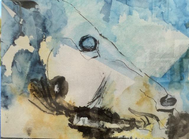 Mathews abstract painting parthenon sythian