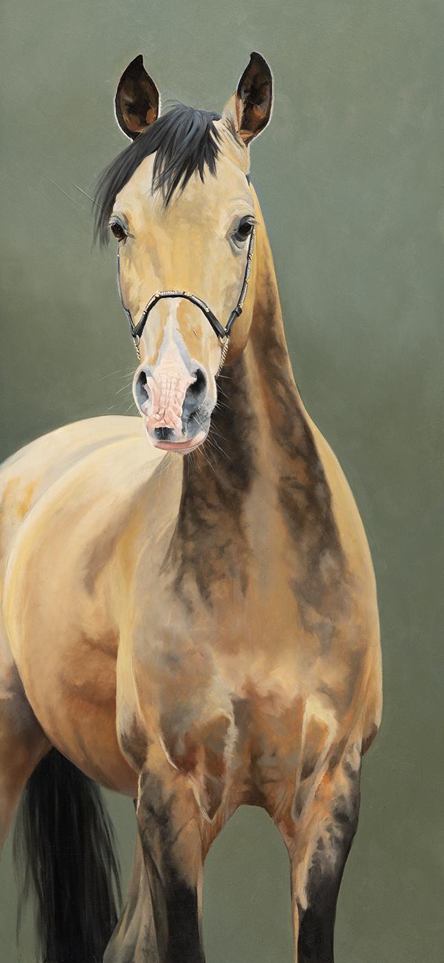 Akhal Teke painting L Miller