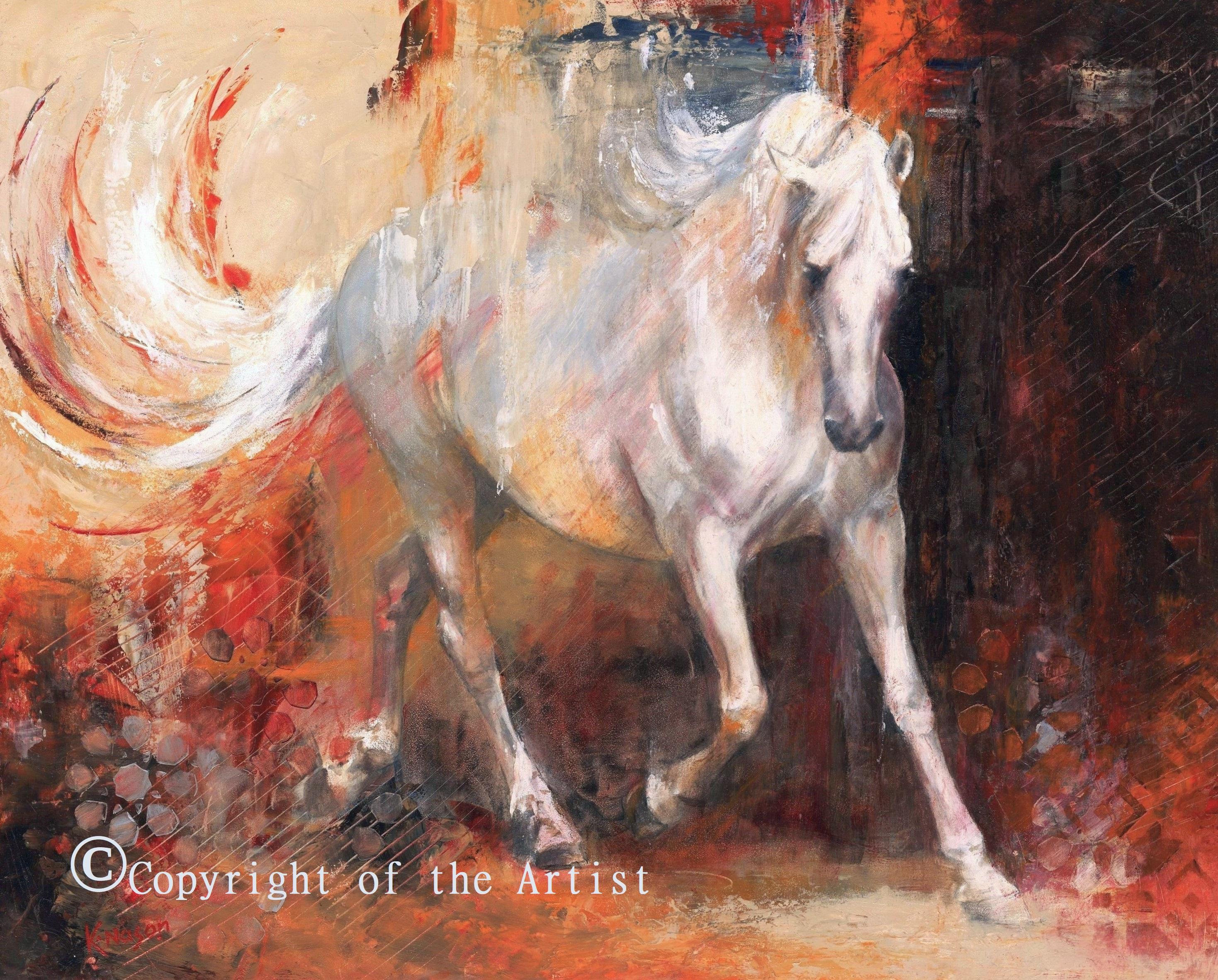 K Nason equestrian painting contemporary