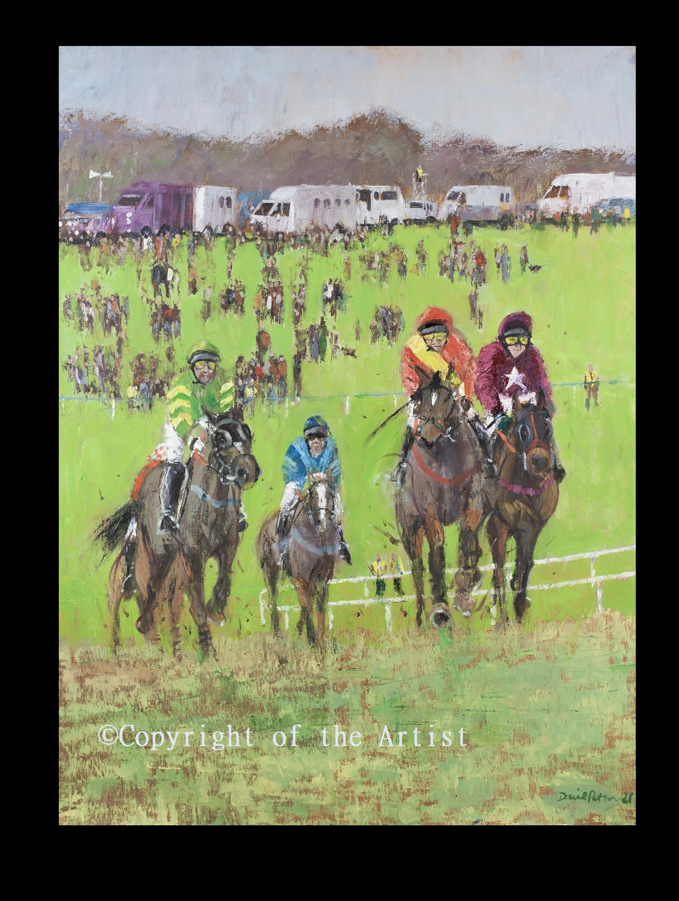 Ireland racing painting D Paton