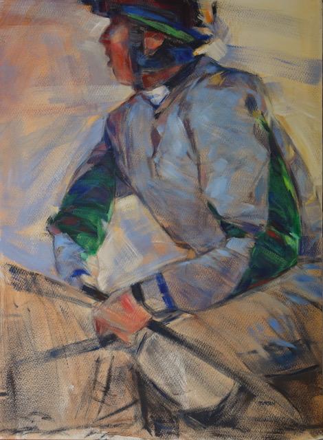 Tim Turton equestrian jockey painting