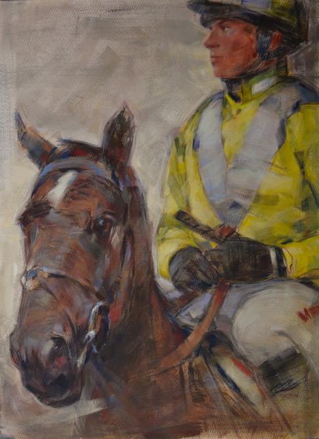 Tim Turton Equestrian painting