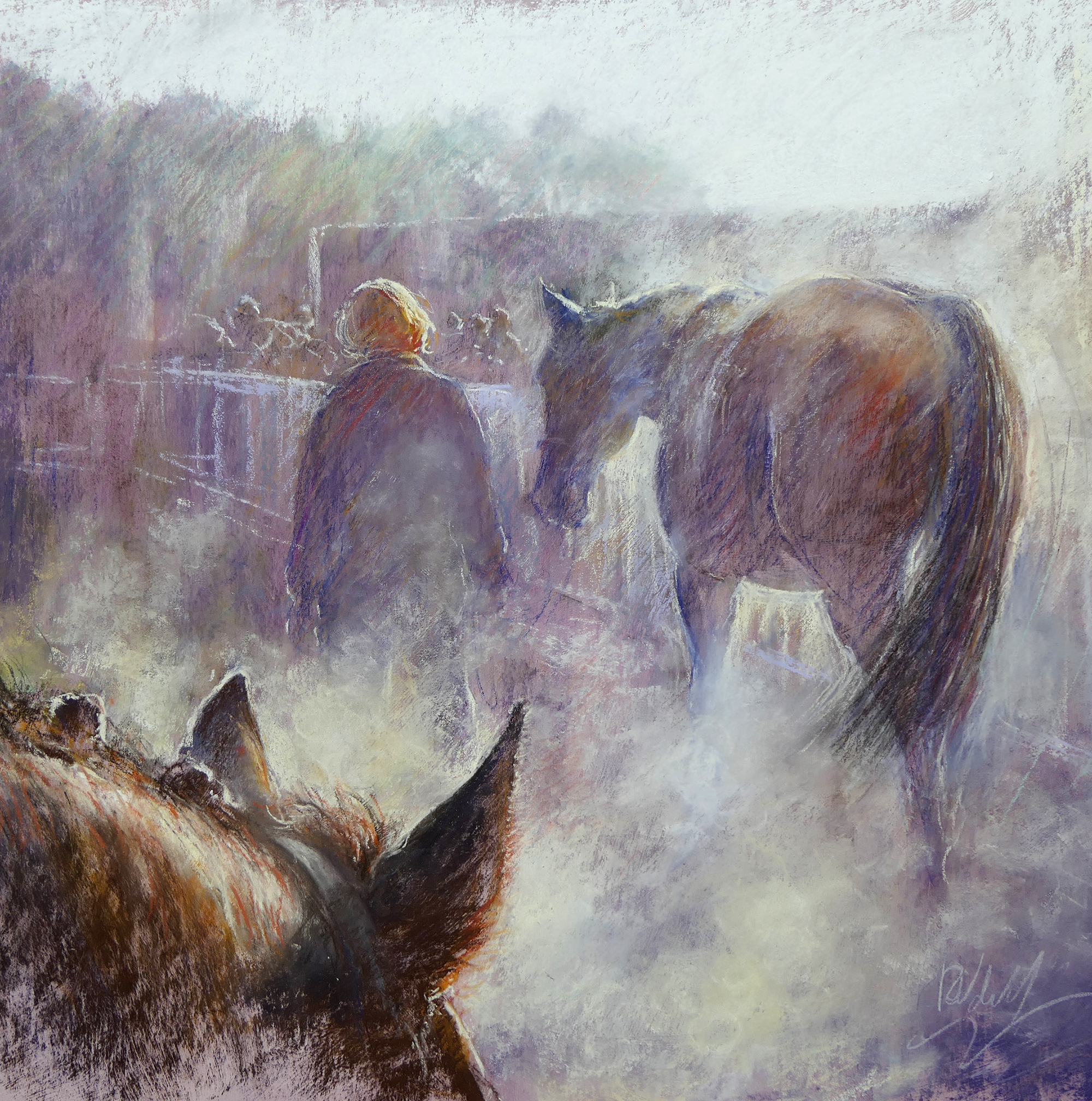 Winners enclosure pastel painting