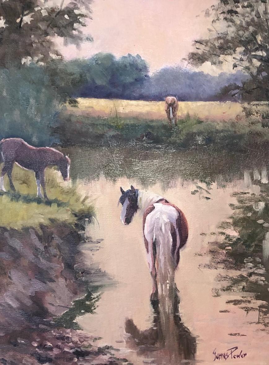 Jim Power painting ponies